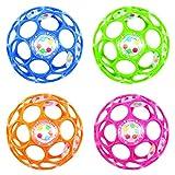 Oball - Rattle / Rassel 10 cm - Rhino Toys / Kids II - versch. Farben zur Auswahl (Blau)