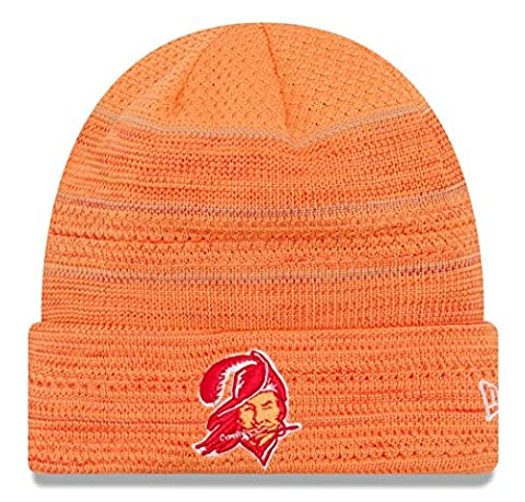 Tampa Bay Buccaneers New Era 2017 NFL Sideline Historic Cold Weather TD Knit Hat Chapeau
