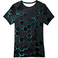 NEWISTAR T-Shirt Bambini e Ragazzi 3D Stampato Manica Corta Maglietta Tees per Ragazzo Ragazze 6-14 Anni