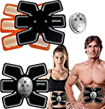 Gym Tracker Electronic 6 Pack Abdominal Fitness Muscle Toner Belt Exercise Easy Abs Workout Trainer Machine Includes Excel 6 Remote and Settings for Various modes - Get Defined and Improved Abs!
