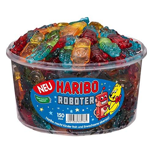 Haribo - Roboter - Weingummi, Fruchtgummi, 150 Stück, Dose, 1200 g