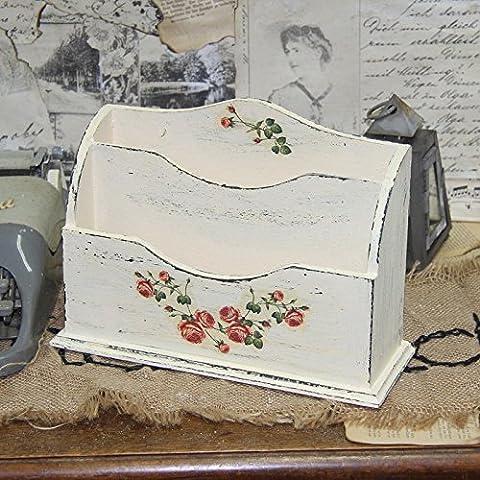 Vintage Briefablage Holzablage Ablage Tischdeko Schreibtischablage Landhausstil