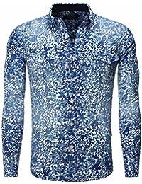 Carisma - Chemise fleurie coupe ajustée Chemise 8241 bleu - Bleu