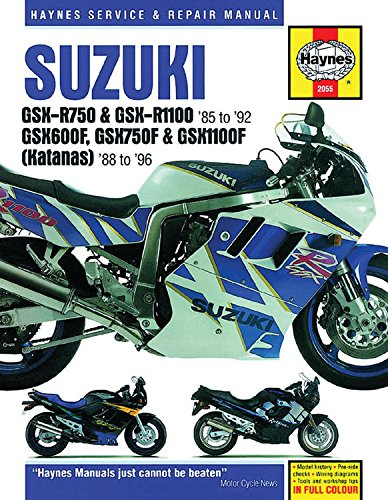 Suzuki Gsx-R750 & Gsx-Rr1100 85 to 92: Gsx600f, Gsx750f & Gsx1100f (Katanas) 8 to 96 (Haynes Service & Repair Manual) por Editors Of Haynes Manuals