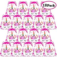 YTBUBOR 18 Pack Unicorn Drawstring Backpacks Viaky Unicorn Drawstring Party Bag Birthday Party Supplies Bag Bag Cartoon Back Packs