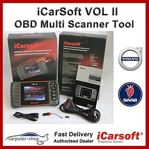 Volvo Scanner (iCarsoft Vol II für Volvo/Saab, Diagnose Scanner Gerät, SRS ABS Bremse Motor Reset EBP SAS DPF.)