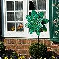 Metall Windrad - Exotic Flower - wetterfest, leichtgängig - Ø48cm, Gesamthöhe: 160cm - inkl. 3-teiligem, verschraubbarem Standstab von Colours in Motion - Du und dein Garten