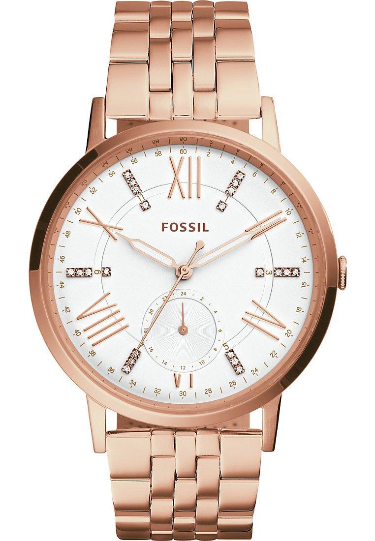 Fossil Damen-Armbanduhr Quarz One Size, weiß/Silber, rosé