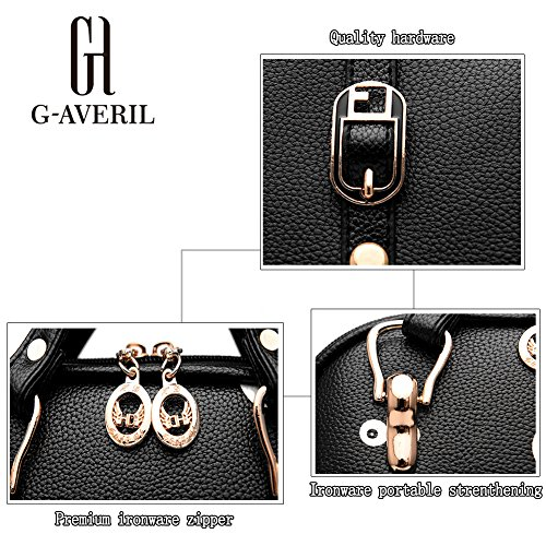 G-AVERIL GA1160-B2, Borsa a zainetto donna Black2 Black3