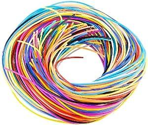 Playtastic Bänder: Scoubidou Bastelset mit 96 Knüpfbändern in 10 Farben (Scoubidou Bänder)
