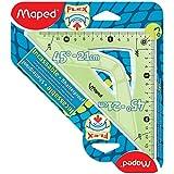 Maped 244421 Equerre de dessin 45 degrés, Hypothénuse: 210 mm, incassable