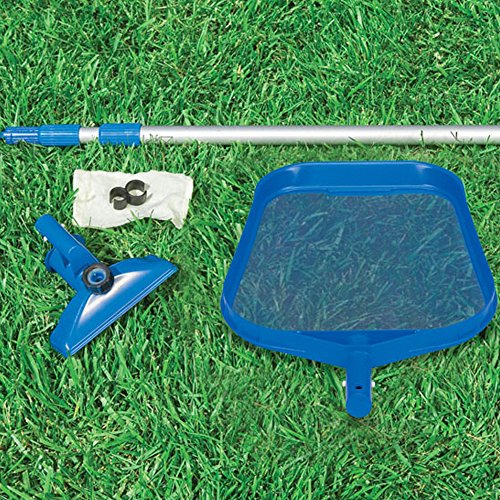 Intex Pool Reinigungsset mit Kescher, Bodensauger und Teleskopstange, blau, 3-teilig