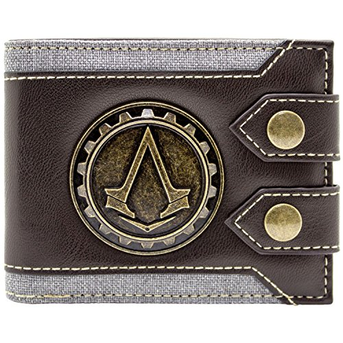 Ubisoft Assassins Creed Syndicate Jacob Logo Braun Portemonnaie Geldbörse