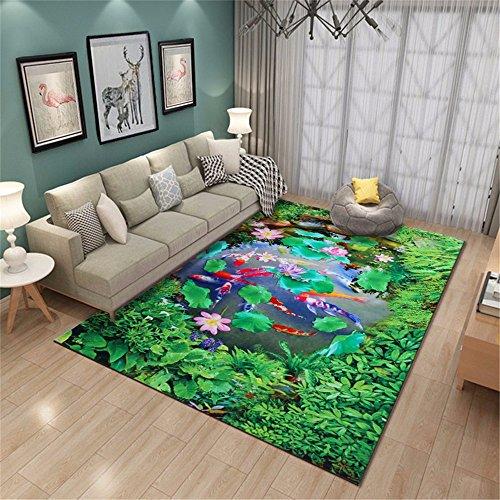 ADLFJGL Wohnzimmerteppiche Schlafzimmerteppiche Türteppiche Pastorale Art 3D Gedruckte Teppiche Badematten D Teppiche - Badezimmer-teppiche Gedruckt