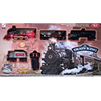 KEVIN ENTERPRISE Kids Toys Plastic New Classic Train Set with Tracks and Smoke (Multi)