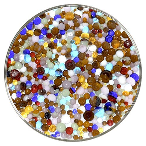 New Hampshire Craftworks Sea Life Collection Frit Balls 90COE, groß, 284 ml, aus Bullseye Glas -