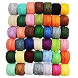 #1: Set of 42 Colorful Cotton Yarn Threads for Crochet, Knitting, Cross Stitch & Needlepoint Hand Embroidery (Assorted Colors) By Kurtzy