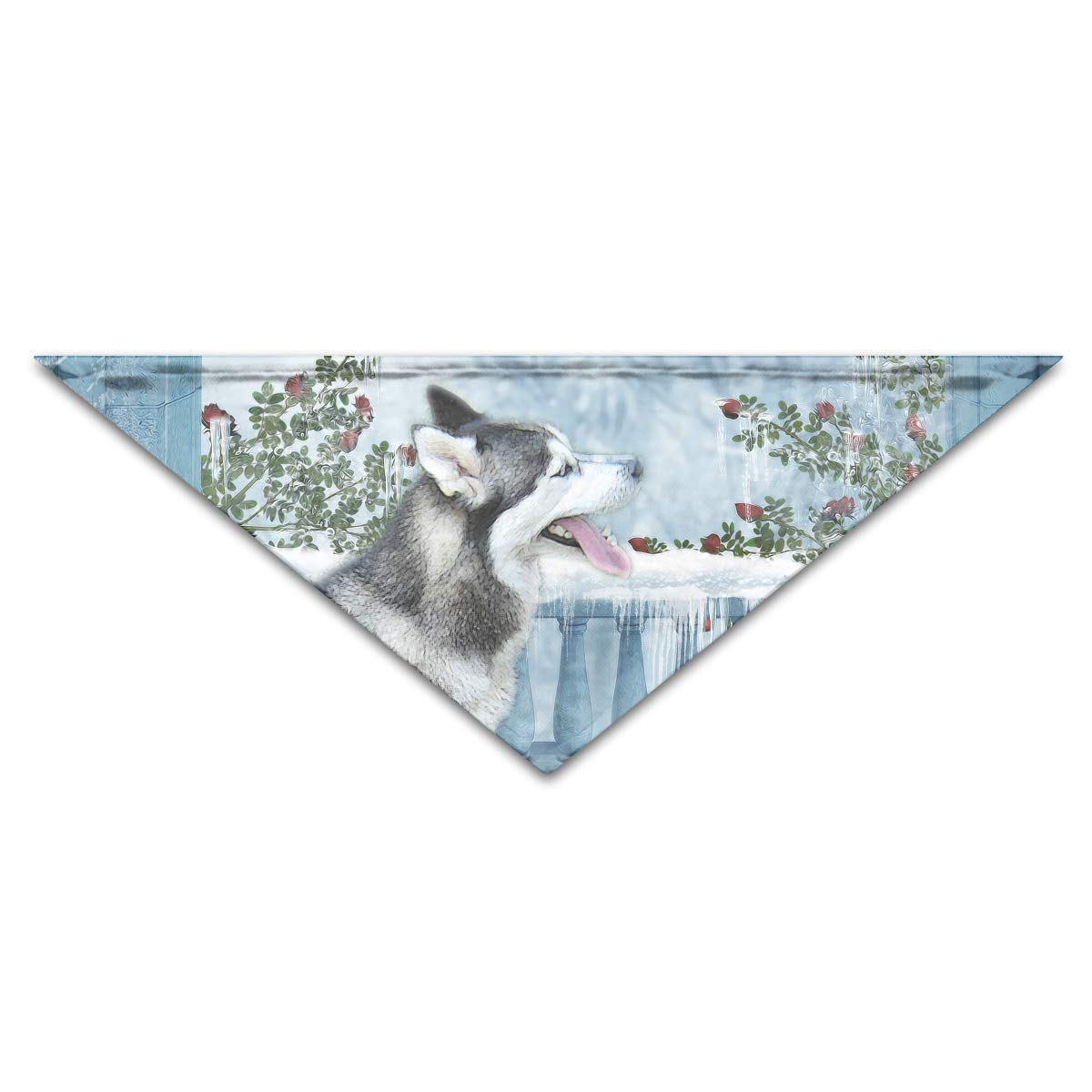 Gxdchfj Siberian-Husky Pet Dog Cat Puppy Bandana Triangle Head Scarfs Accessories