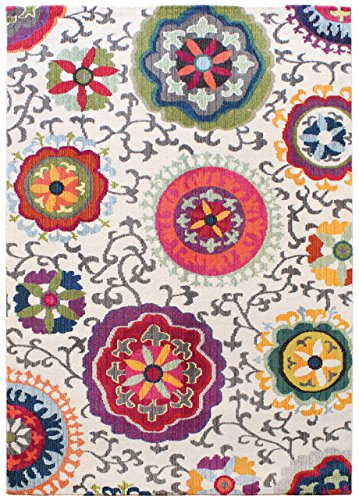 Alfombra salon sala de estar Carpet moderno Design COLORES FLORAL RUG