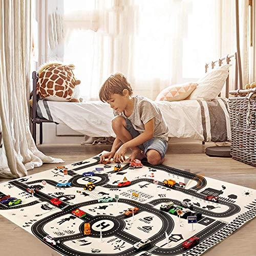 Carte de scène de voiture pour enfants,jeu de ville pliable jouet pour enfants scène de carte de voiture, Europe du Nord Style Intelligence jouets pour enfants jouet