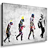 Banksy Street Art Graffiti Evolution Leinwand