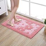 bd jfew The absorbent pad in microfiber anti-slip mat of non-slip bath mats of room door pink bathroom foot of door, 50*80cm