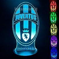 Lampada led multicolore scudetto Juventus luce notturna cameretta