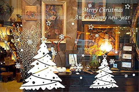 ufengke Joyeux Noël Bonne Année Arbre de Noël Blanc et