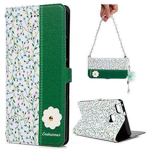 Huawei P9 Lite Hülle, Filp PU Leder Tasche Case : Book Type Gemalt Hände Handyhülle mit Soft TPU Innere Schutzhülle in Mailand