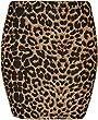 Womens Print Ladies Stretch Bodycon Elasticated Jersey Short Mini Skirt - Big Aztec - 8-10