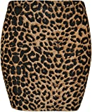 WearAll - Imprimé extensible elastiqué jersey court mini-jupe moulant - ...