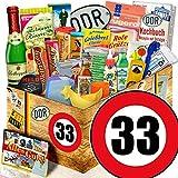 Geschenk Ideen | Zahl 33 | Ossi Produkte Vati | 24x Allerlei