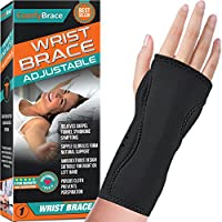 ‏‪Night Wrist Sleep Support Brace - Fits Both Hands - Cushioned to Help With Carpal Tunnel and Relieve and Treat Wrist Pain ,Adjustable, Fitted-ComfyBrace‬‏