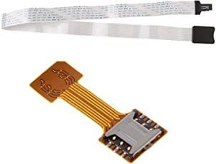 MagiDeal 2 Pcs/Pack Nano SIM Card Extender Adapter+64cm TF Card to SD Card Converter
