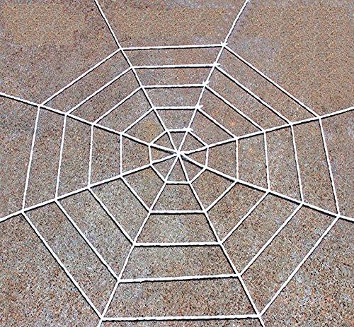 1,5 Meter Halloween weiß Super große Stretch Spinnennetz für Halloween Dekorationen Outdoor Yard - erschrecken Sie Ihre ()
