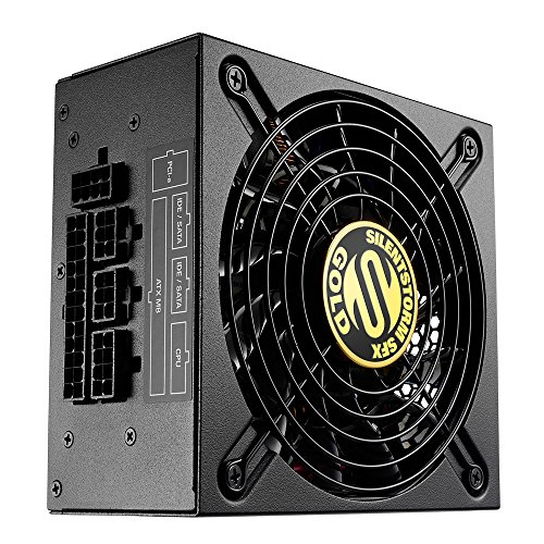 Sharkoon SilentStorm SFX Gold PC-Netzteil (500 Watt, SFX, Kabelmanagement) 600w 8 Pin