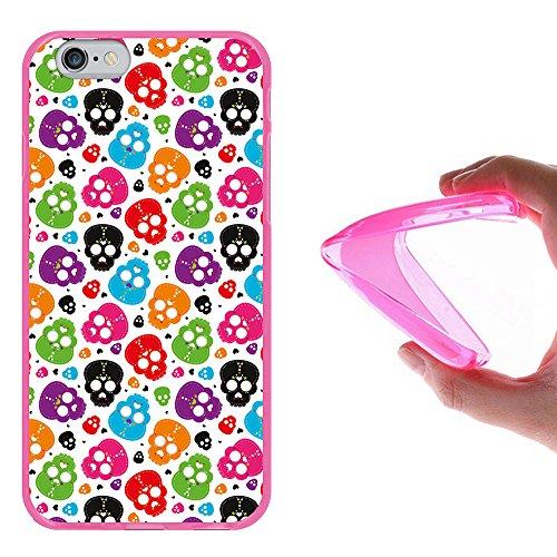 iPhone 6 6S Hülle, WoowCase Handyhülle Silikon für [ iPhone 6 6S ] Dinosaurier Handytasche Handy Cover Case Schutzhülle Flexible TPU - Transparent Housse Gel iPhone 6 6S Rosa D0100