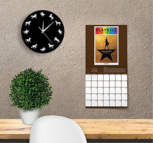 rei Laufenden Pferd Tier Wand Dekor Uhr Cowboy Horse Rider Dekorative Wanduhr Minimalistisches Design Pferd Wanduhr ()
