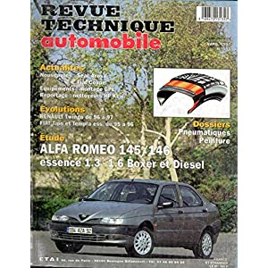 REVUE TECHNIQUE AUTOMOBILE N° 595 ALFA ROMEO 145 / 146 ESSENCE 1.3 / 1.6 BOXER ET DIESEL 1.9 TD