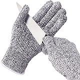 Baban Coupe résistant Gants haute performance protection de niveau 5, qualité alimentaire, EN388 Certifié, gants de jardinage pour la main de protection et travail, gant de cuisine pour couper et trancher, L Taille