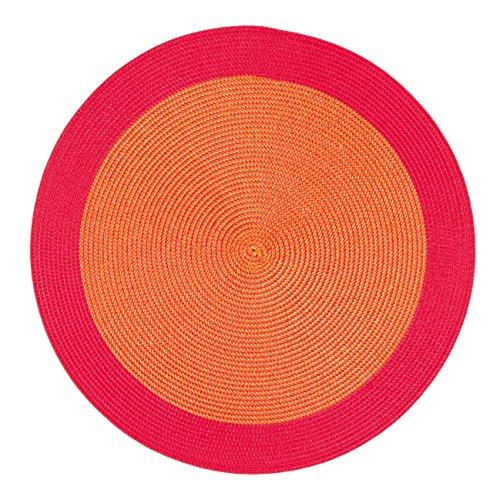 Contento - Maya - Sets De Table Rond, Lot De 4 Pièces - Rouge/Orange