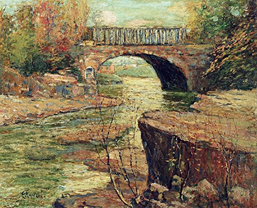 Die Museum Outlet-Aquädukt in Little Falls, New Jersey, gespannte Leinwand Galerie verpackt. 29,7x 41,9cm