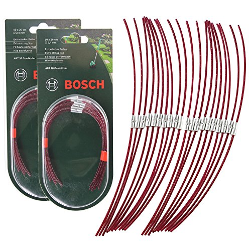 Bosch Genuine ART 26 COMBITRIM Strimmer Grass Trimmer Spool Line (Pack of 20, 26cm, F016800181)