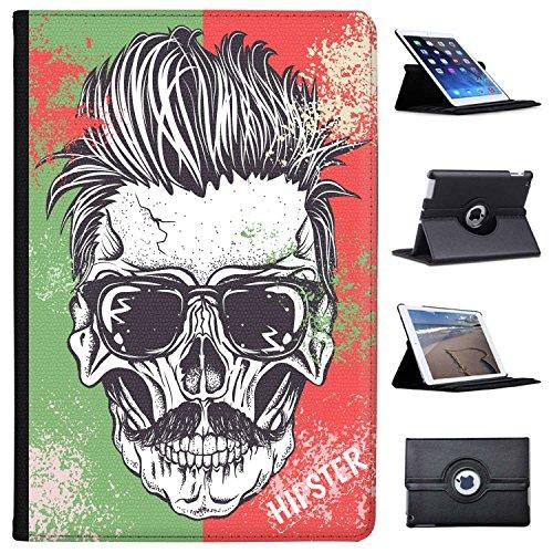 Fancy A Snuggle Totenkopf mit Sonnenbrille und Schnurrbart Hipster Case Cover/Folio aus Kunstleder für Das Apple iPad Pro 10.5