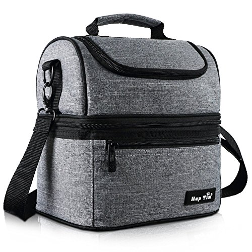 Kühltasche klein Kühlbox faltbar Lunchtasche Mittagessen Tasche Thermotasche Isoliertasche Picknicktasche für Lebensmitteltransport Arbeit Picknick 8 L(16040-G)
