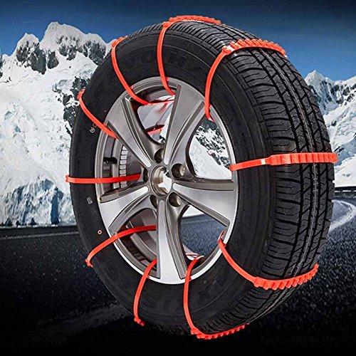 10pcs Car LKW Anti-Rutsch-Rad Reifen Schneeketten passen Reifenbreite 175-295