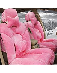AMYMGLL Autozubehör Sitzabdeckung Deluxe Edition (8 Sätze) Universal-Car-Cover Set Plüsch Frühling & Herbst-Winter-4 Farben wählen