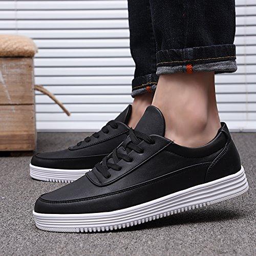 Wuyulunbi@ Bianco e spesso gli uomini scarpe scarpe scarpe bianco Nero