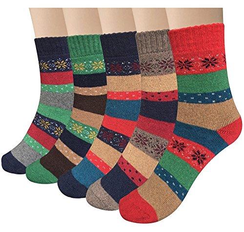 Garsumiss Damen Socken aus Baumwolle Thermal Socken Winter Socken Frauen Socken Dame Socken Mädchen Socken Lässige Socken (Kind Socken Warm)