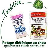 Anne Delona soupe aux choux brûleurs de graisse méthode minceur 7 jours potage diététique port gratuit 1 boite pour 7 j. de cure